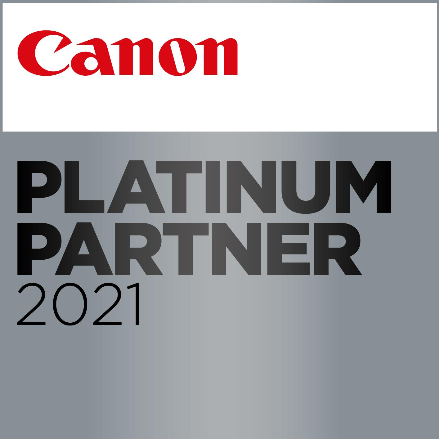 Canon Platinum Partner 2020